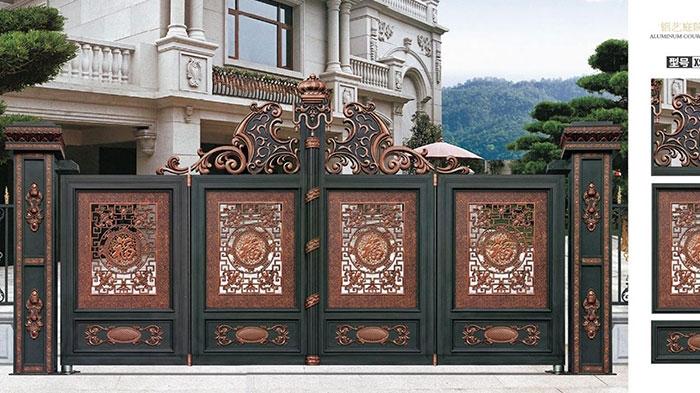 鋁藝庭院大門的質量與市場競爭關系